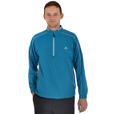 adidas Performance Mens ClimaProof Half Zip Golf Jacket - Marine - Large