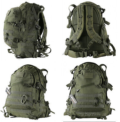 Army Combat Military Special Ops Molle Rucksack Backpack Day Pack Bag Green 45L