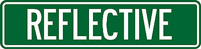 """Reflective Personalized Custom Street Sign, 6""""x24"""" Make Your Own Sign (2 Sided)"""