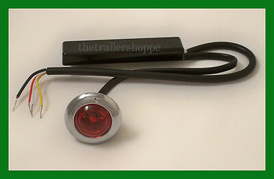 "Maxxima M09370R Red Clear Len 1 LED Strobe Warning Auxiliary 1"" Round Micro"