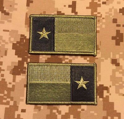 Subdued OD Green TEXAS State Flag Patch