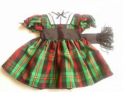 New American Girl - Addy's Tartan Plaid Dress ONLY for Doll Size