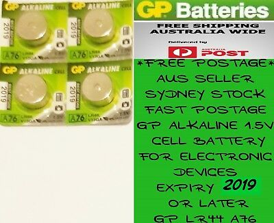 4 PCS GP LR44 A76 AG13 1.5V Button Cell Batteries For Electronic Devices BB2019