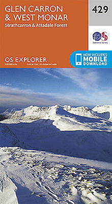 Glen Carron and West Monar Explorer Map 429 Ordnance Survey 2015