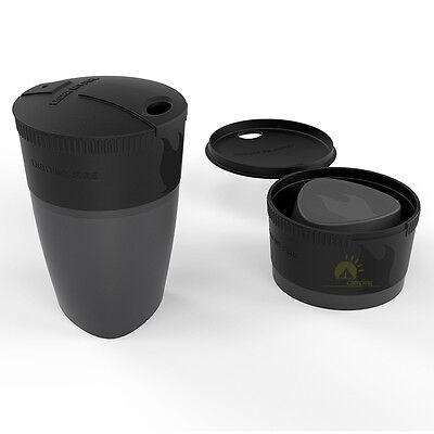 Light My Fire Pack-up-Cup Becher Faltbecher Tasse Falttasse Outdoor in schwarz