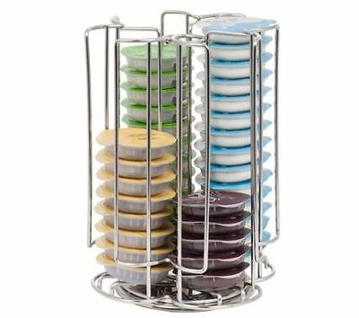 NEW Revolving Rotating 52 Capsule Coffee Pod Holder Tower Stand Rack for Tassimo