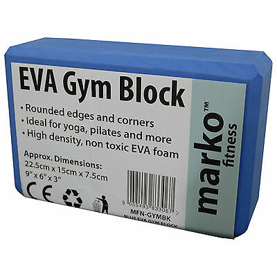 Gym Block Yoga Pilates Fitness Exercise Strengthening Aid Tool Blue Physical