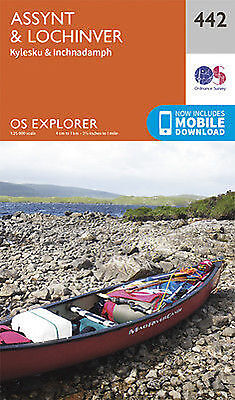 Assynt and Lochinver Explorer Map 442 Ordnance Survey 2015