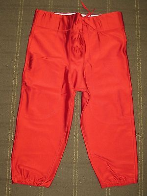 Lot of 50 New Riddell Youth Nylon Slotted Football Pants - Scarlet