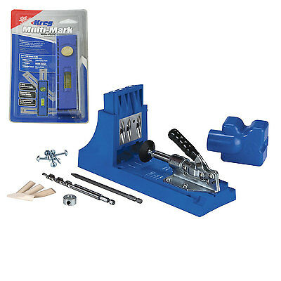 Kreg Jig K4 Pocket Hole Joint Starter Tool Kit with Marking and Measuring Tool