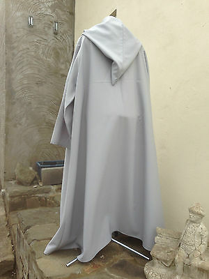 oversized light grey  hooded cloak with sleeves. more colours cosplay 48