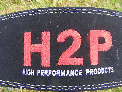 H2P Leather Weightlifting Belt, + Body Active Gloves, Various Sizes, BNIP