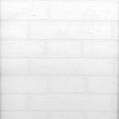 Raised Brick White Textured Paintable Wallpaper 497-99423 DOUBLE ROLL FREE SHIP