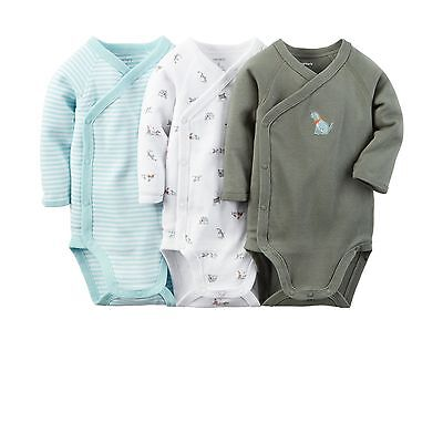 New Carter's 3 Pack Puppy Dog Love Bodysuits NWT Size NB 3m 6m 9m Side Snap