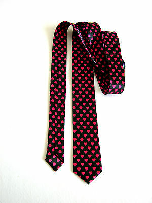 UNISEX Slim  5,5 CM LOVE AMORE CUORE HEART CRAVATTA TIE IDEA REGALO