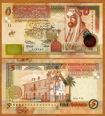 Jordan, Kingdom, 5 Dinars, 2014, Pick 35-New, UNC