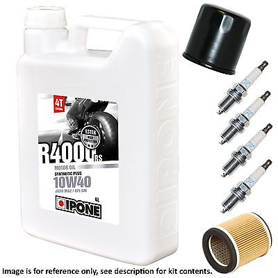 Honda CB 900 FA (D.O.H.C.) 1980 Ipone R4000 Full Service Kit Oil/Air/Plugs