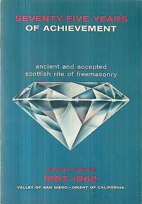 Two Masonic History Books Masons Freemasonry Valley of San Diego Lodge No. 35