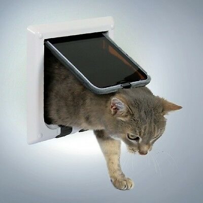 Trixie 4-Way Cat Flap White 38621 • EUR 13,12