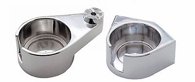 Freightliner Classic & FLD - CHROME CUP HOLDERS - (Driver & Passenger Sides)