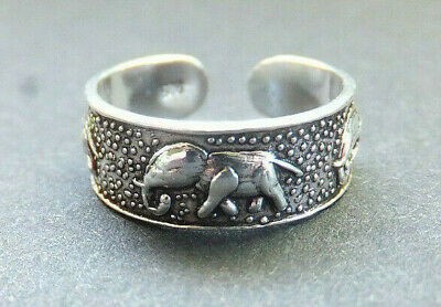 SOLID SILVER TOE RING, Elephant design *BN* good quality, sturdy toe ring