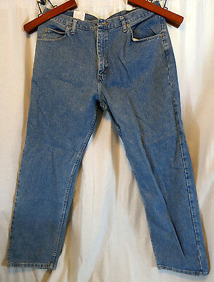b0e80295 MENS WRANGLER SZ 36x32 BLUE DENIM JEANS 100% Cotton RELAXED FIT ...