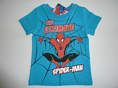"""SPIDER MAN """"The Ultimate Spider Man"""" Blue T-Shirt NWT"""