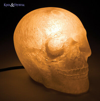 Creepy White SKULL Mood Lamp or Night Light