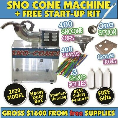 Snow Cone Machine 2019 model. *Full Size* Sno & Fairy Floss Users Brand New