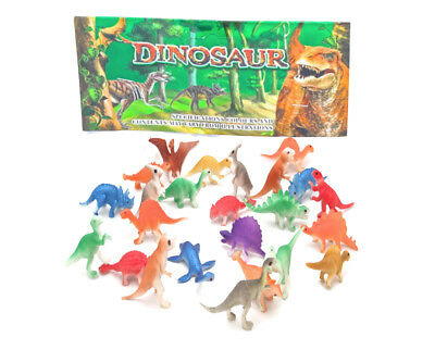 24 Dinosaurs Toy Animals Jurassic Figures Kids Game Play Set T-Rex TRex Plastic