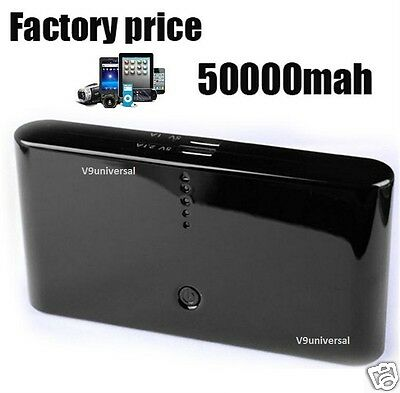 50000mah Power Bank Pack Backup Mobile Phone Charger for iPhone iPad HTC Samsung