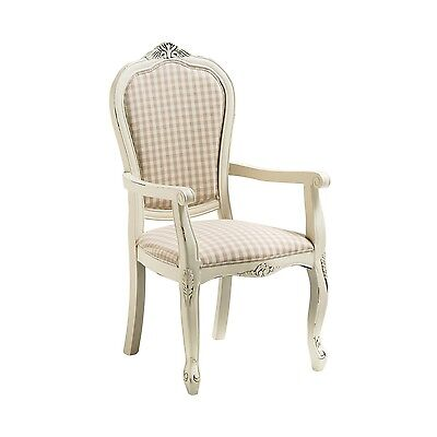 Premier Housewares Shabby Home Office Furniture Boudoir Seat Chair With Arms New