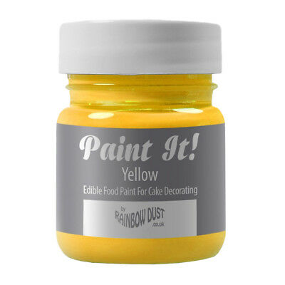Rainbow Dust Paint It Cake Decoration 100% Edible Food Paint Colouring - YELLOW
