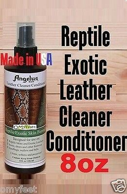 Angelus Reptile Exotic Skin Leather Cleaner Conditioner Cleans Softens Preserves
