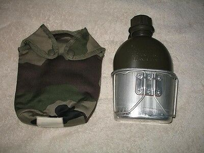 Canteen - Aluminum Cup - Camo Insulated Cover - Never Used Military Surplus