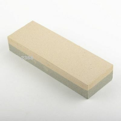 "6"" Aluminum Oxide Sharpening Stone - Dual Grit Knife Sharpener Whetstone"