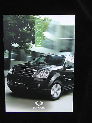 Ssangyong Rexton  Full Brochure 270 S 270 S Auto 270 Ex 10 Pages
