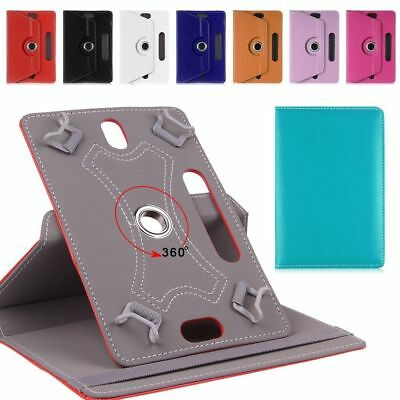 "360 Universal Leather Stand Case Cover For Android Tab Tablet For 7"", 8"",10""inch"