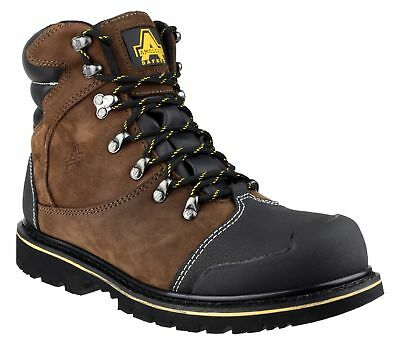 AMBLERS FS227 S3 brown nubuck water resistant safety boot with midsole size 6-13