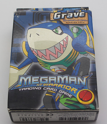 MegaMan NT Warrior Trading Card Game Grave Sharkman Starter Deck Neu Ovp