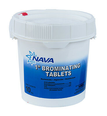 """1"""" Inch Swimming Pool & Spa Bromine Sanitizer Tabs Tablets - 10 lbs"""