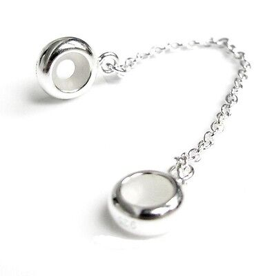 925 Sterling Silver  SAFETY CHAIN for European bracelets