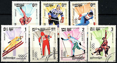 Kampuchea 1984 SG#496-502 Winter Olympic Games Cto Used Set #A84742