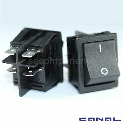 Canal R Series Black Rocker Switch DPST 20 A 16 A