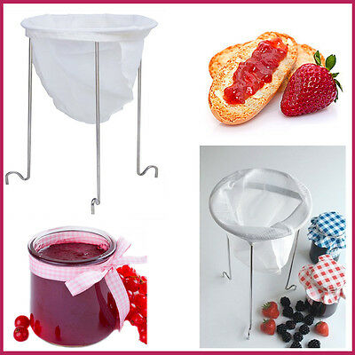 Tala Jam Strainer Kit Nylon & Sturdy Holder Jelly Fruit Strainer Kitchen Set New