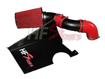 HG Motors. Luftfilter Cold Air Intake Kit Black Silikon rot E6 für A3 Golf 7