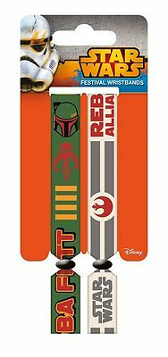 Star Wars (Rebellion) Pack Of 2 Fabric Festival Wristbands BY PYRAMID FWR68024