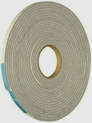 "New 02238 M-D Gray Foam Cell WEATHER STRIPPING TAPE SELF ADHESIVE 1/8""x1/4""x17FT"