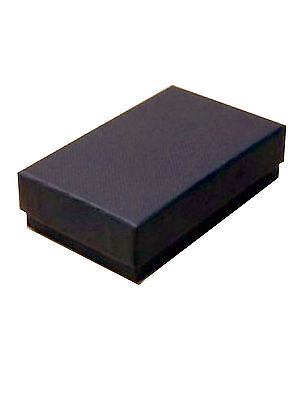 JOB LOT - 96 BLACK CARDBOARD GIFT BOXES. THIN FOR CHEAP LL POSTAGE £0.47 each