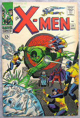 X-Men #21 1966 1st Appear of DOMINUS Werner Roth Roy Thomas KEY Issue BIG PICS!